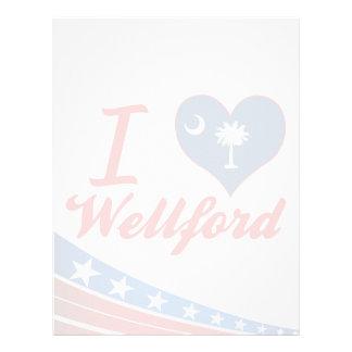 Amo Wellford, Carolina del Sur Membrete Personalizado