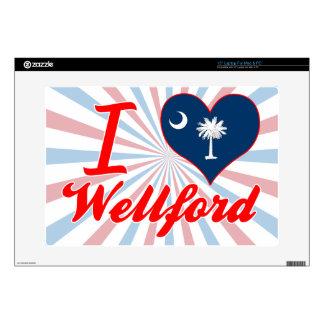 Amo Wellford, Carolina del Sur Portátil Calcomanía