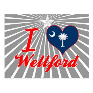 Amo Wellford, Carolina del Sur Tarjeta Postal