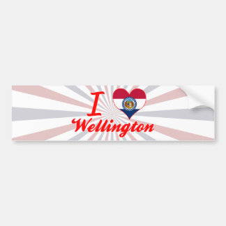 Amo Wellington, Missouri Pegatina Para Auto