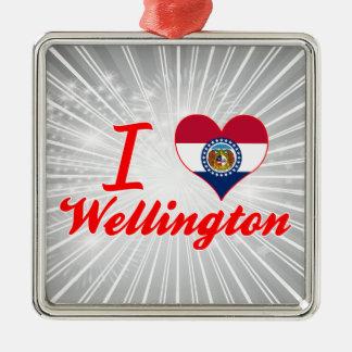 Amo Wellington, Missouri Adorno Cuadrado Plateado