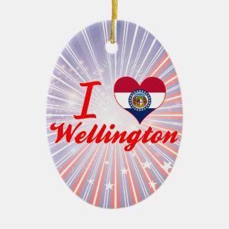 Amo Wellington, Missouri Adorno Ovalado De Cerámica