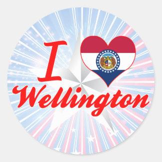 Amo Wellington, Missouri Pegatina Redonda
