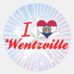 Amo Wentzville, Missouri Etiqueta Redonda