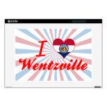 Amo Wentzville, Missouri Calcomanías Para 38,1cm Portátiles