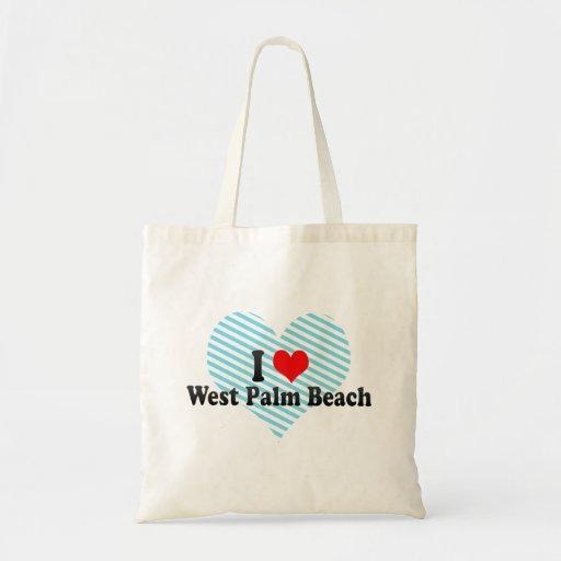 Amo West Palm Beach, Estados Unidos Bolsas Lienzo