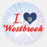 Amo Westbrook, Maine Etiqueta Redonda