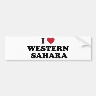 Amo Western Sahara Pegatina Para Auto
