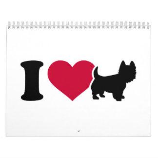 Amo Westie Calendario De Pared