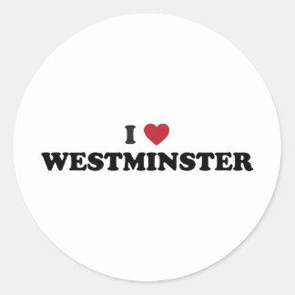 Amo Westminster Colorado Pegatina Redonda
