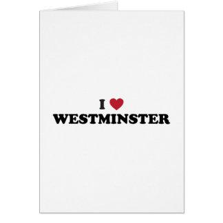 Amo Westminster Colorado Tarjeta De Felicitación