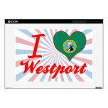 Amo Westport, Washington Portátil Calcomanía