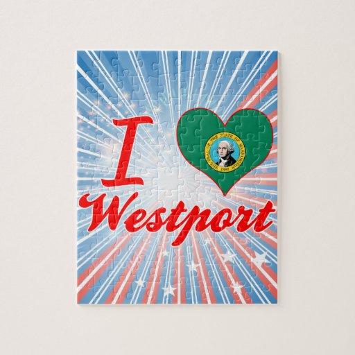 Amo Westport, Washington Rompecabeza Con Fotos