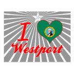 Amo Westport, Washington Tarjetas Postales