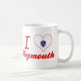 Amo Weymouth, Massachusetts Taza Básica Blanca