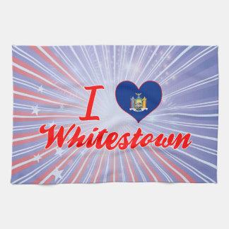 Amo Whitestown, Nueva York Toallas De Mano