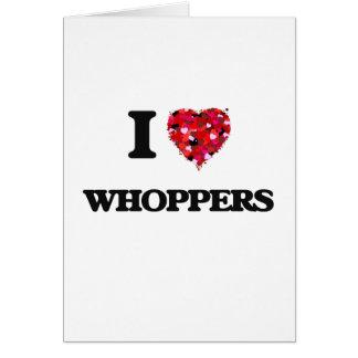 Amo Whoppers Tarjeta De Felicitación