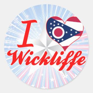 Amo Wickliffe, Ohio Etiqueta Redonda