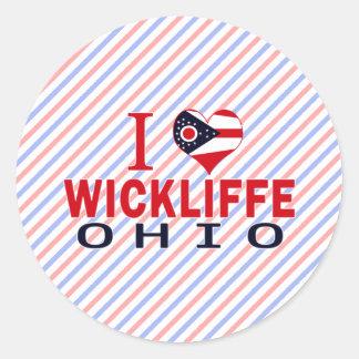 Amo Wickliffe, Ohio Pegatina Redonda