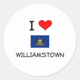 Amo Williamstown Pennsylvania Pegatina Redonda
