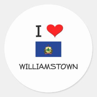 Amo Williamstown Vermont Pegatina Redonda