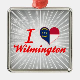 Amo Wilmington, Carolina del Norte Ornaments Para Arbol De Navidad