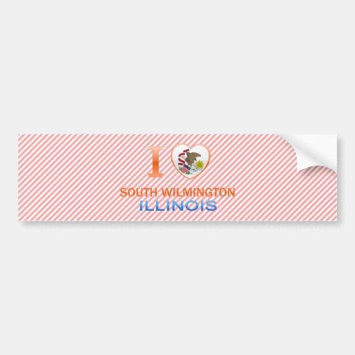 Amo Wilmington del sur, IL Etiqueta De Parachoque