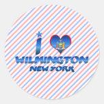 Amo Wilmington, Nueva York Etiquetas Redondas