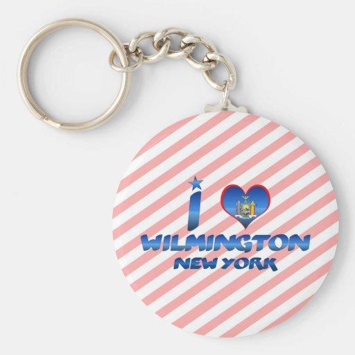 Amo Wilmington, Nueva York Llaveros Personalizados