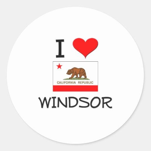 Amo WINDSOR California Etiqueta Redonda