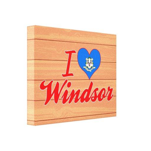 Amo Windsor, Connecticut Lienzo Envuelto Para Galerias