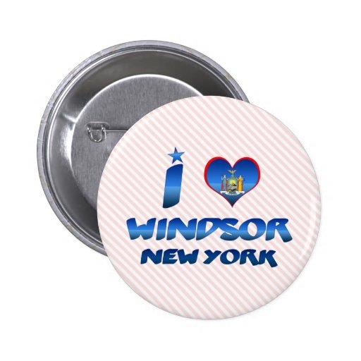Amo Windsor, Nueva York Pins