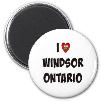 Amo Windsor, Ontario Imán Redondo 5 Cm