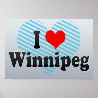 Amo Winnipeg Canadá Poster