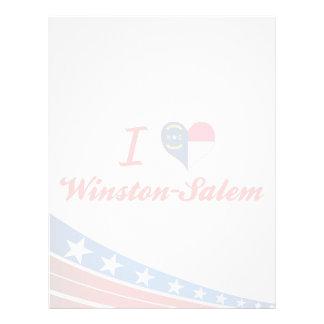 Amo Winston-Salem, Carolina del Norte Plantilla De Membrete