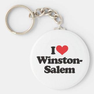 Amo Winston-Salem Llavero Redondo Tipo Pin