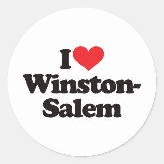 Amo Winston-Salem Pegatina Redonda