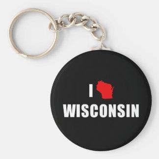 Amo Wisconsin Llavero Redondo Tipo Pin