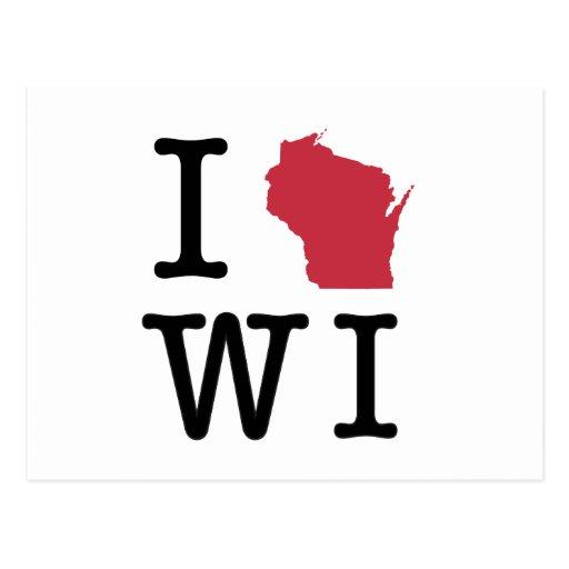 Amo Wisconsin Postales