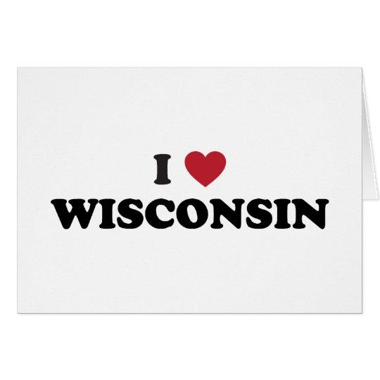 Amo Wisconsin Tarjeta De Felicitación