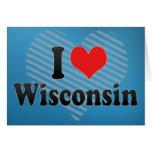 Amo Wisconsin Tarjetas