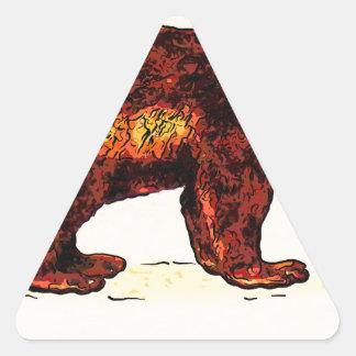 Amo Wolverine Pegatina Triangular