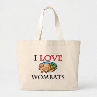Amo Wombats Bolsa Tela Grande