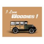 ¡Amo, Woodies! Tarjeta Postal