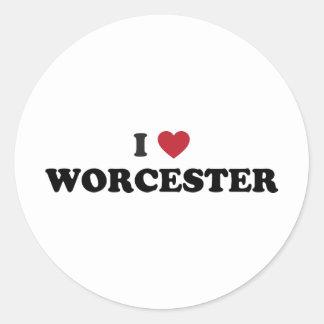 Amo Worcester Massachusetts Pegatina Redonda