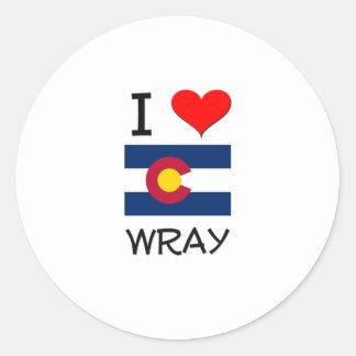 Amo WRAY Colorado Pegatina Redonda