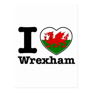 Amo Wrexham Tarjeta Postal