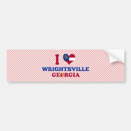Amo Wrightsville, Georgia Etiqueta De Parachoque