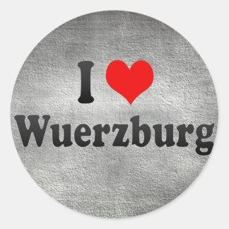 Amo Wurzburg, Alemania Etiqueta Redonda