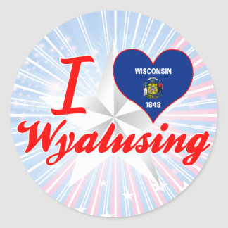 Amo Wyalusing, Wisconsin Etiqueta Redonda